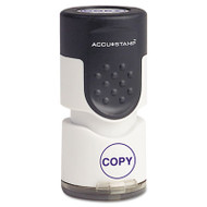 "Accustamp Pre-Inked Round Stamp with Microban, COPY, 5/8"" dia, Blue"