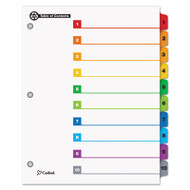 100% Recycled OneStep Index System, Multicolor 10-Tab, 11 x 8-1/2, 1 Set