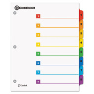 100% Recycled OneStep Index System, Multicolor 8-Tab, 11 x 8-1/2, 1 Set