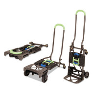 2-in-1 Multi-Position Hand Truck and Cart, 16 5/8 x 12 3/4 x 49 1/4, Blue/Green