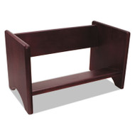 Binder Rack, Wood, 17 1/8 x 9 3/4 x 9 5/8, Mahogany Finish