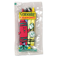 Classic Color Crayons in Cello Pack, 4 Colors, 4/Pack, 360 Packs/Carton