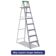 #428 Folding Aluminum Step Ladder, 8 ft, 7-Step, Green