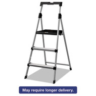 Aluminum Step Stool Ladder, 225 lb Capacity, 20w x 31 spread x 47h