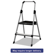 Aluminum Step Stool Ladder, 225 lb Capacity, 18 1/2w x 23 1/2 spread x 38 1/2h
