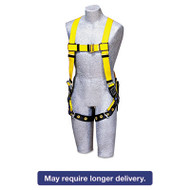 Full-Body Harness, Tongue Buckles, Back D-Ring, Universal, 420lb Capacity