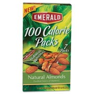 100 Calorie Pack All Natural Almonds, 0.63oz Packs, 7/Box