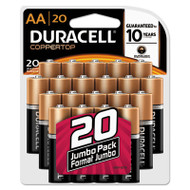 CopperTop Alkaline Batteries with Duralock Power Preserve Technology, AA, 20/Pk