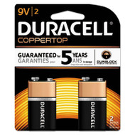 CopperTop Alkaline Batteries with Duralock Power Preserve Technology, 9V, 2/Pk