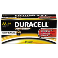 CopperTop Alkaline Batteries with Duralock Power Preserve Technology, AA, 144/CT