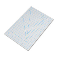 "Self-Healing Cutting Mat, Nonslip Bottom, 1"" Grid, 12 x 18, Gray"