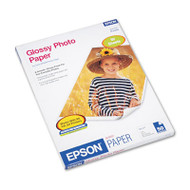 Glossy Photo Paper, 52 lbs., Glossy, 8-1/2 x 11, 50 Sheets/Pack