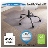 """45 x 53 Lip Chair Mat, Task Series AnchorBar for Carpet up to 1/4"""""""