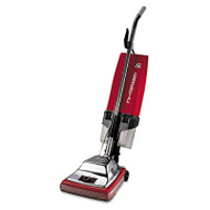 "Commercial Upright with EZ Kleen Dirt Cup, 7 Amp, 12"" Path, Red/Steel"