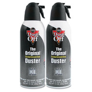 Disposable Compressed Gas Duster, 10 oz Cans, 2/Pack