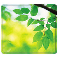 Recycled Mouse Pad, Nonskid Base, 7 1/2 x 9, Leaves