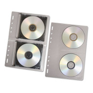 CD/DVD Protector Sheets for Three-Ring Binder, Clear, 10/Pack