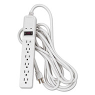 Basic Home/Office Surge Protector, 6 Outlets, 15 ft Cord, 450 Joules, Platinum
