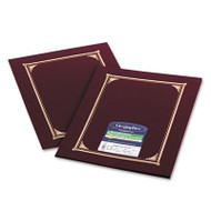 Certificate/Document Cover, 12 1/2 x 9 3/4, Burgundy, 6/Pack
