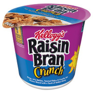 Breakfast Cereal, Raisin Bran Crunch, Single-Serve 2.8oz Cup, 6/Box