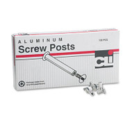 "Post Binder Aluminum Screw Posts, 3/16"" Diameter, 1/2"" Long, 100/Box"