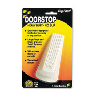Big Foot Doorstop, No Slip Rubber Wedge, 2 1/4w x 4 3/4d x 1 1/4h, Beige