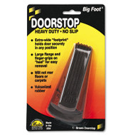 Big Foot Doorstop, No Slip Rubber Wedge, 2 1/4w x 4 3/4d x 1 1/4h, Brown