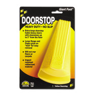 Giant Foot Doorstop, No-Slip Rubber Wedge, 3-1/2w x 6-3/4d x 2h, Safety Yellow