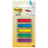 "Arrow 1/2"" Page Flags, Blue/Green/Purple/Red/Yellow, 20/Color, 100/Pack"