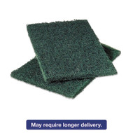 Commercial Heavy-Duty Scouring Pad 86, Green, 6 x 9, 12/Pack