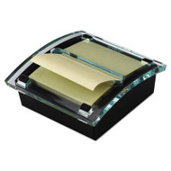 Clear Top Pop-up Note Dispenser for 3 x 3 Self-Stick Notes, Black/Clear