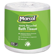 100% Recycled Two-Ply Embossed Toilet Tissue, White, 48 Rolls/Carton