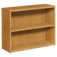 10500 Series Laminate Bookcase, Two-Shelf, 36w x 13-1/8d x 29-5/8h, Harvest