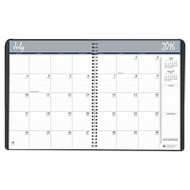 Academic Ruled Monthly Planner, 14-Mo. July-August, 8 1/2 x 11, Black, 2016-2017