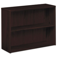 10500 Series Laminate Bookcase, Two-Shelf, 36w x 13-1/8d x 29-5/8h, Mahogany