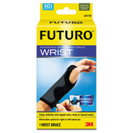 "Adjustable Reversible Splint Wrist Brace, Fits Wrists 5 1/2""- 8 1/2"", Black/Gray"