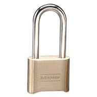 "Resettable Combination Padlock, Brass, 2"", Brass Color, 6/Box"