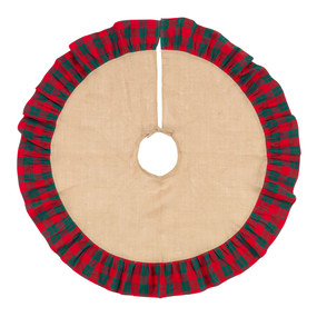 Holiday Plaid Tree Skirt