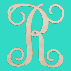 Single Initial Wood Monogram-18 Inch