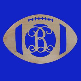 "18"" Football MDF Monogram"