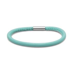 Single Wrap Ocean Blue Leather Bracelet