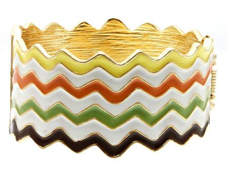 Chevron Style Multi Color Hinge Bracelet