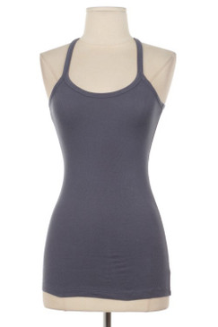 Cotton Tank Top - Charcoal