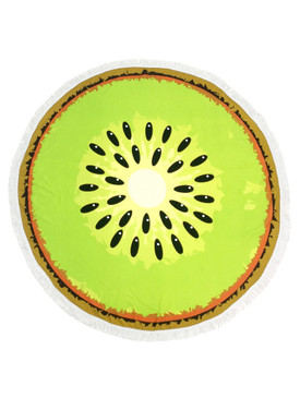 KIWI FRUIT PRINT  ROUND BEACH TOWEL MAT