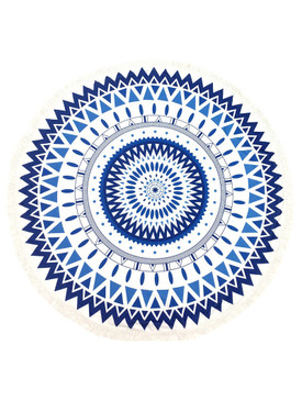 TRIBAL PATTERN  ROUND BEACH TOWEL MAT- MULTI COLOR