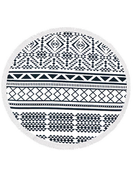 AZTEC PATTERN  ROUND BEACH TOWEL MAT