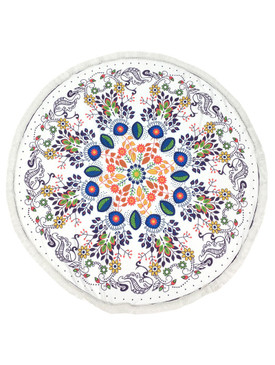 PAISLEY PATTERN  ROUND BEACH TOWEL MAT-MULTI