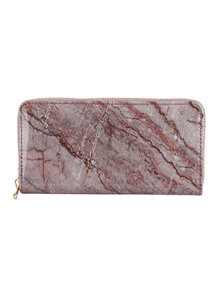 BAG ACCESSORY / MARBLE PRINT / VINYL CLUTCH WALLET / ZIPPER / COIN POCKET / CASH POCKET / CREDIT CARD POCKET / ONE SIZE / 8 INCH WIDE / 4 INCH TALL / NICKEL AND LEAD COMPLIANT