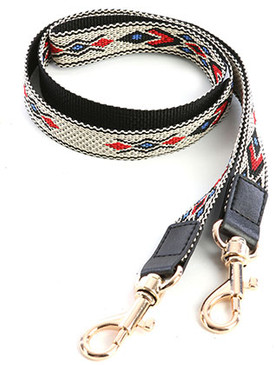 BAG ACCESSORY / TRIBAL PATTERN WOVEN / PURSE STRAP / CAMERA STRAP / CROSS BODY / AROUND NECK / 44 INCH LONG / NICKEL AND LEAD COMPLIANT
