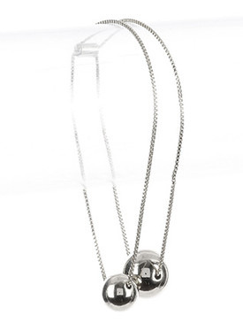 Bracelet / Metal Ball Charm / Wraparound Chain / Adjustable / 16 Inch Long / 3/4 Inch Drop / Nickel And Lead Compliant
